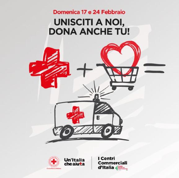 """Il Meraville aderisce a """"Un Italia che aiuta"""" per raccogliere fondi per la Croce Rossa Italiana. Appuntamento al 17 e al 24 febbraio."""